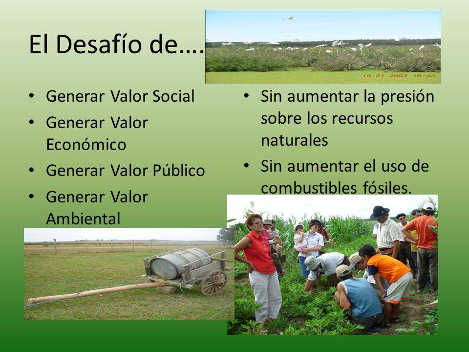 El Desafío de….. Generar Valor Social Generar Valor Económico