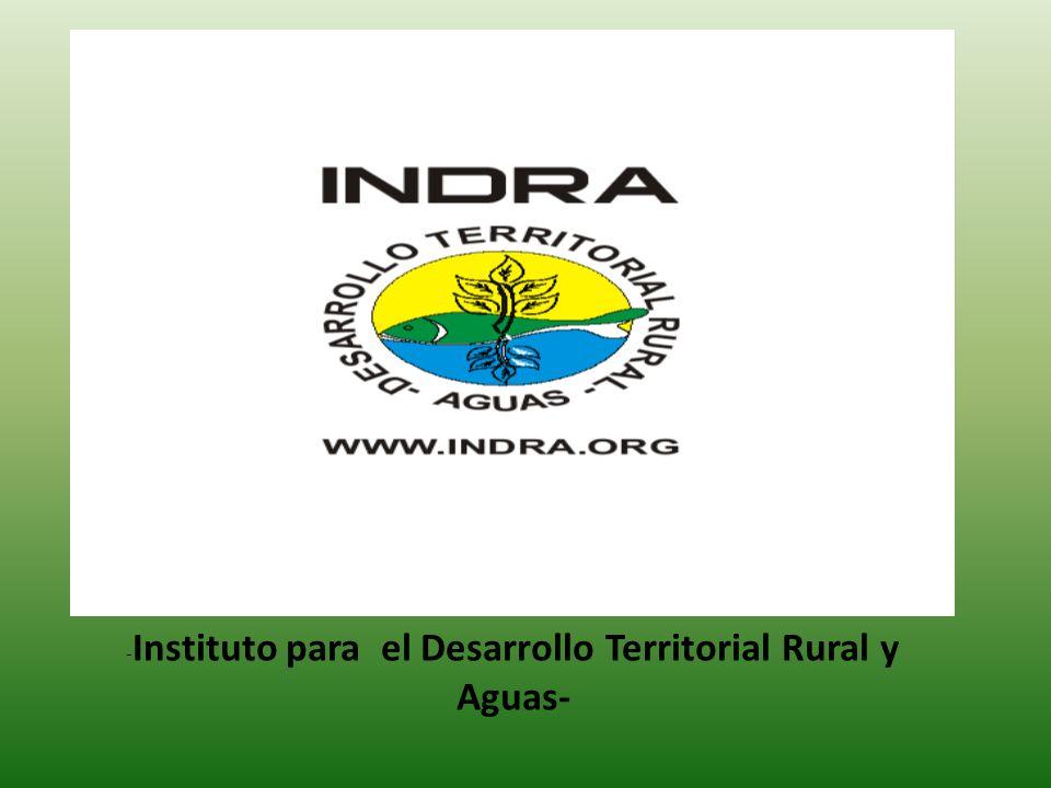 -Instituto para el Desarrollo Territorial Rural y Aguas-