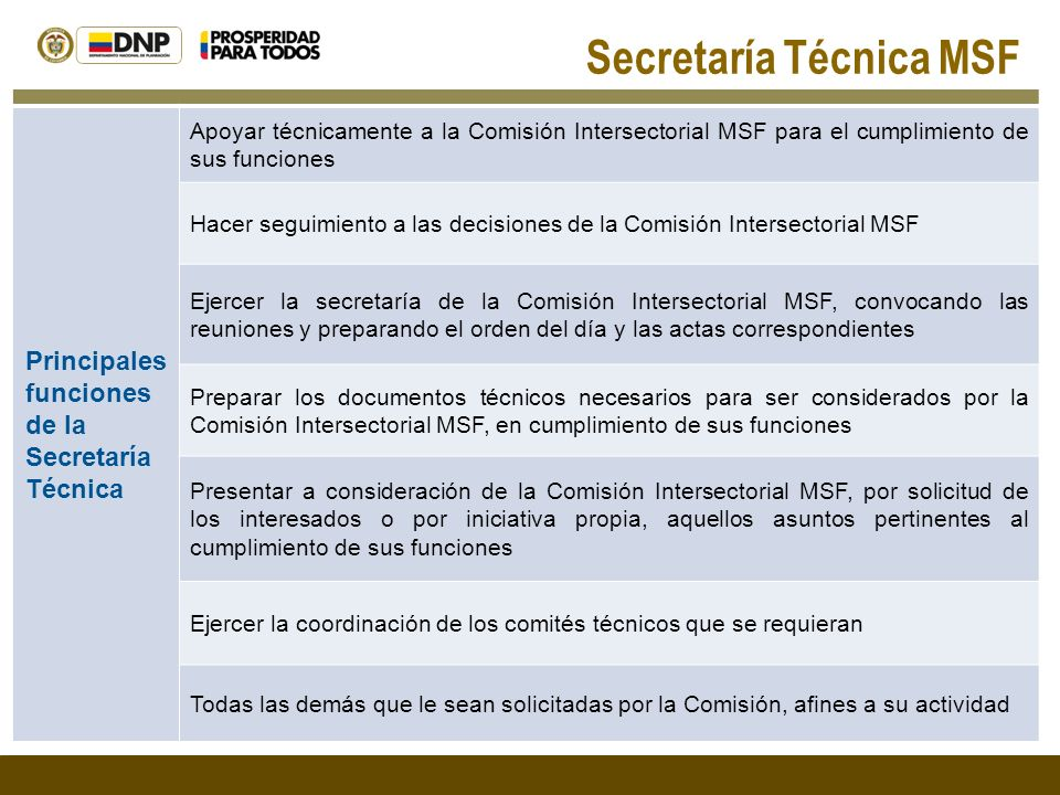 Secretaría Técnica MSF