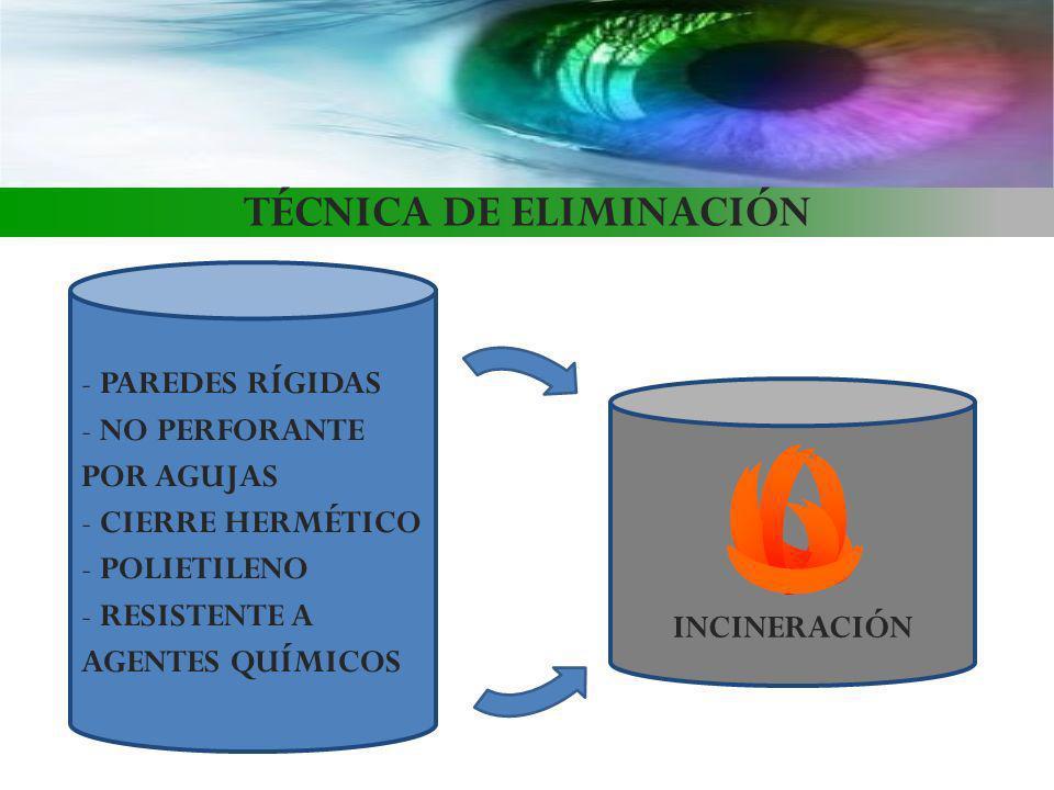 TÉCNICA DE ELIMINACIÓN
