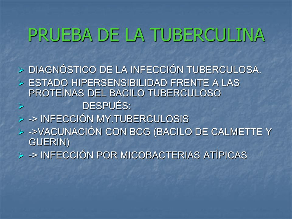 PRUEBA DE LA TUBERCULINA