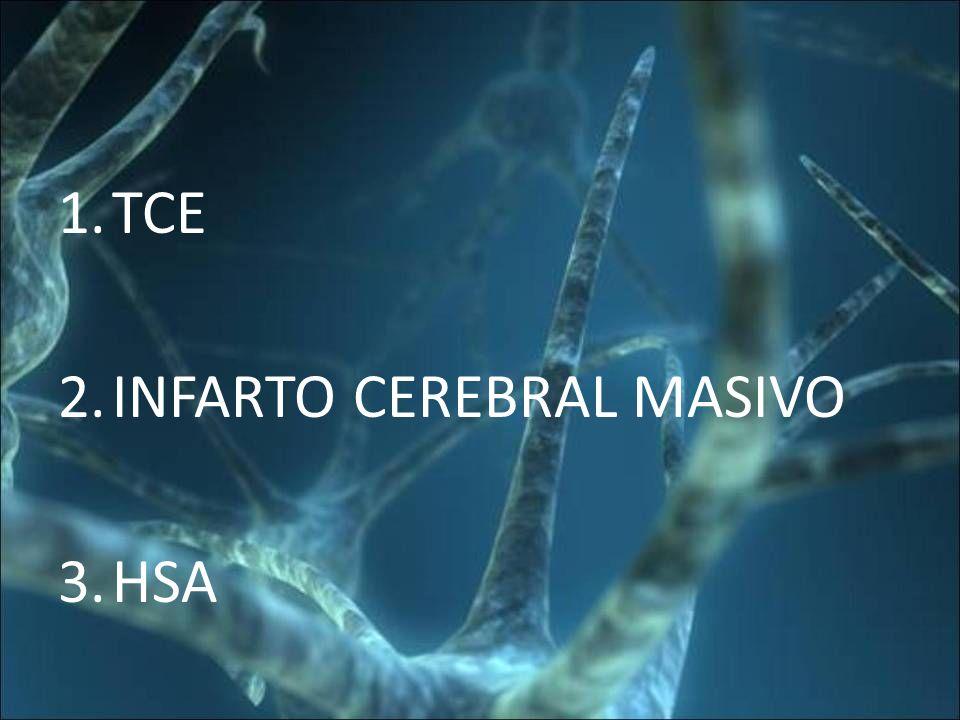 TCE INFARTO CEREBRAL MASIVO HSA