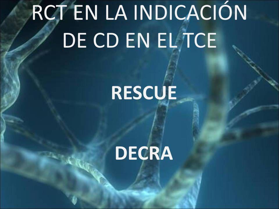 RCT EN LA INDICACIÓN DE CD EN EL TCE