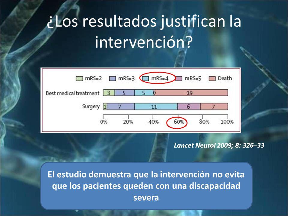 ¿Los resultados justifican la intervención