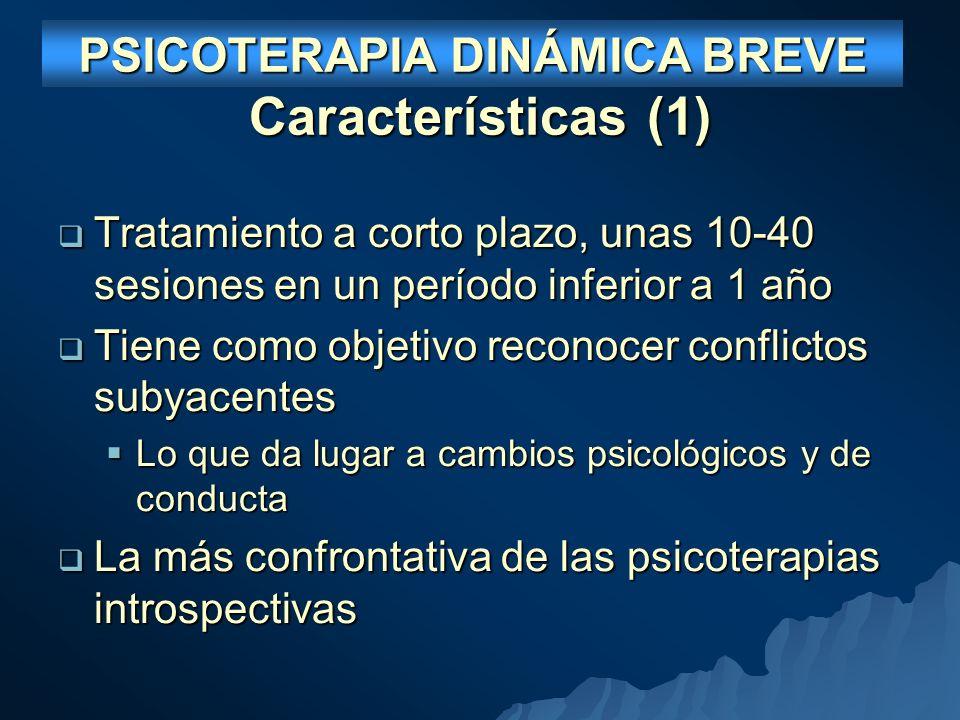 PSICOTERAPIA DINÁMICA BREVE