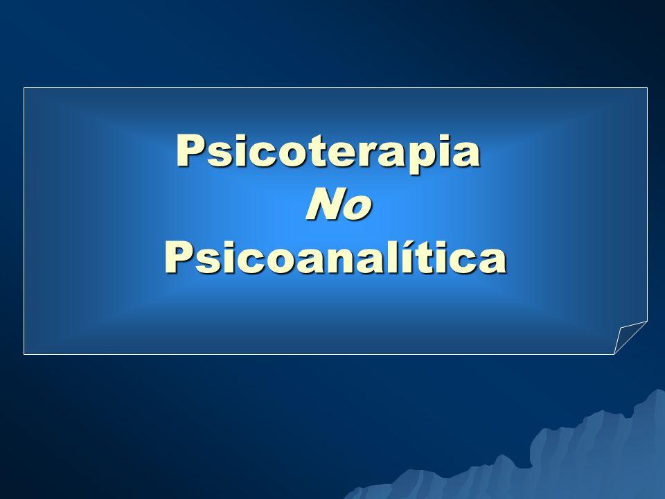 Psicoterapia No Psicoanalítica