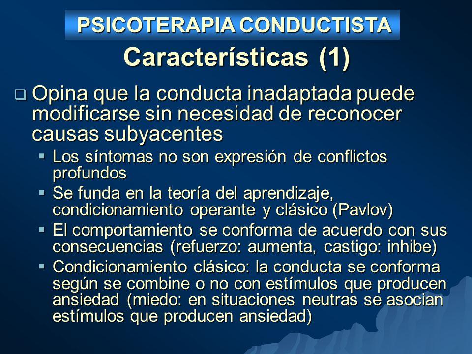 PSICOTERAPIA CONDUCTISTA