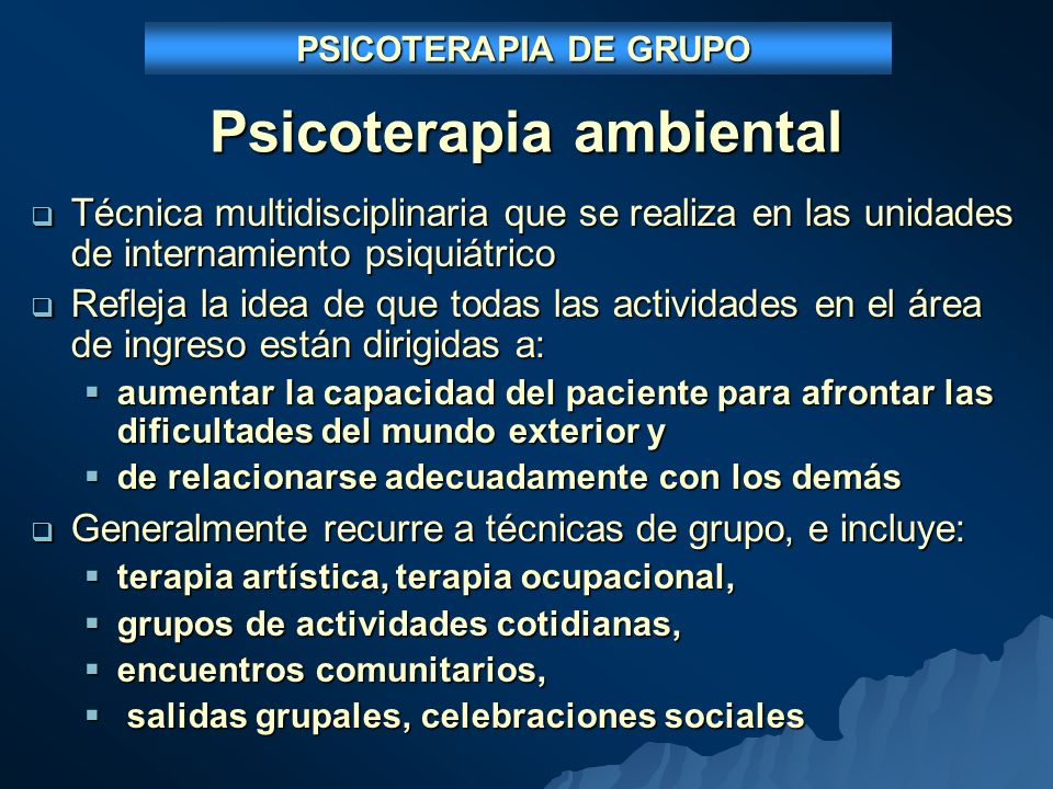 Psicoterapia ambiental