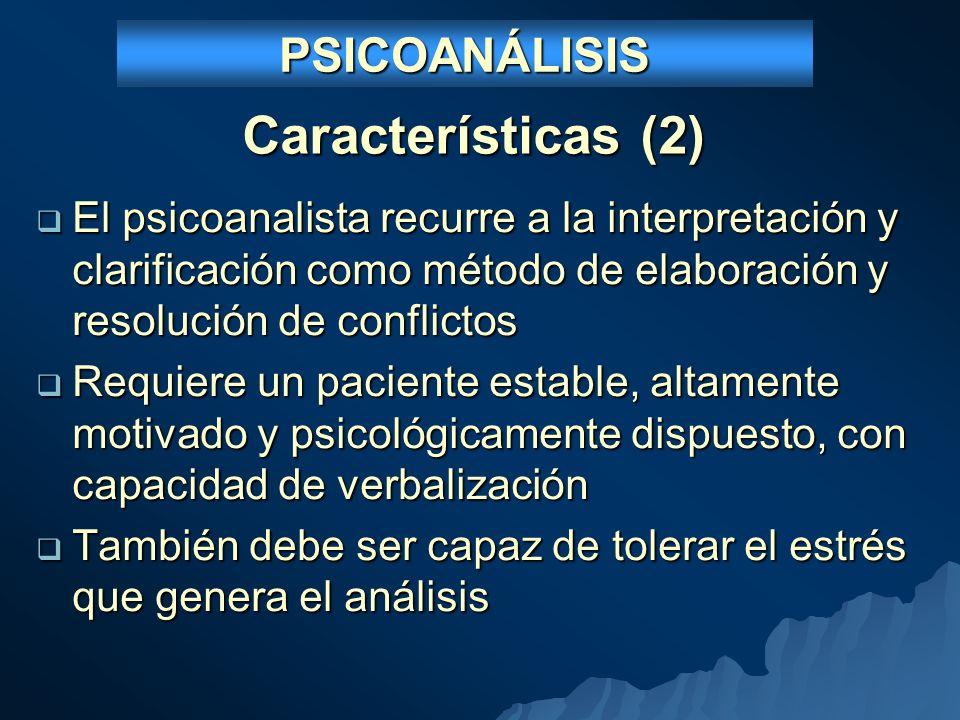 Características (2) PSICOANÁLISIS