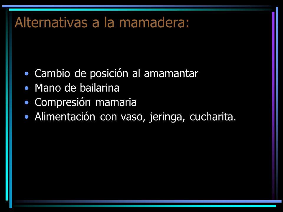Alternativas a la mamadera:
