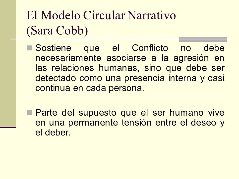 El Modelo Circular Narrativo (Sara Cobb)