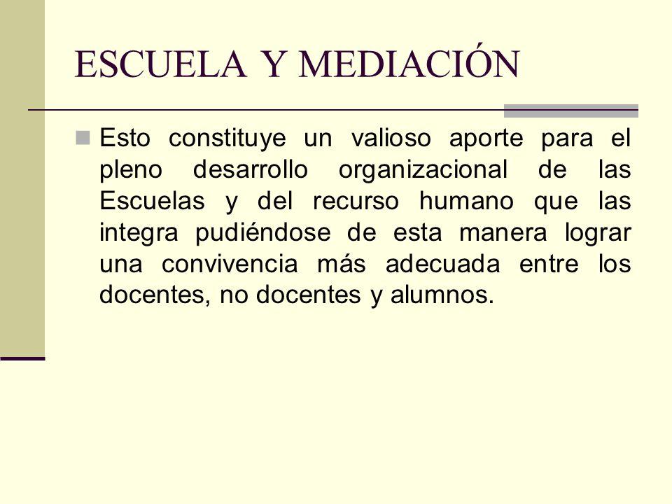 ESCUELA Y MEDIACIÓN