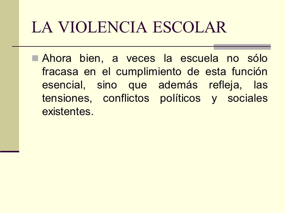 LA VIOLENCIA ESCOLAR
