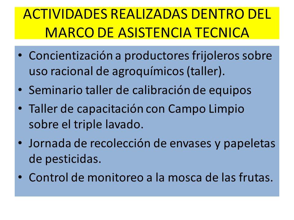 ACTIVIDADES REALIZADAS DENTRO DEL MARCO DE ASISTENCIA TECNICA