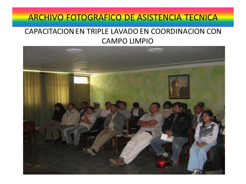 ARCHIVO FOTOGRAFICO DE ASISTENCIA TECNICA