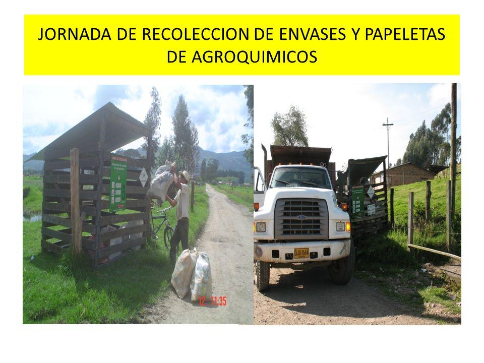 JORNADA DE RECOLECCION DE ENVASES Y PAPELETAS DE AGROQUIMICOS