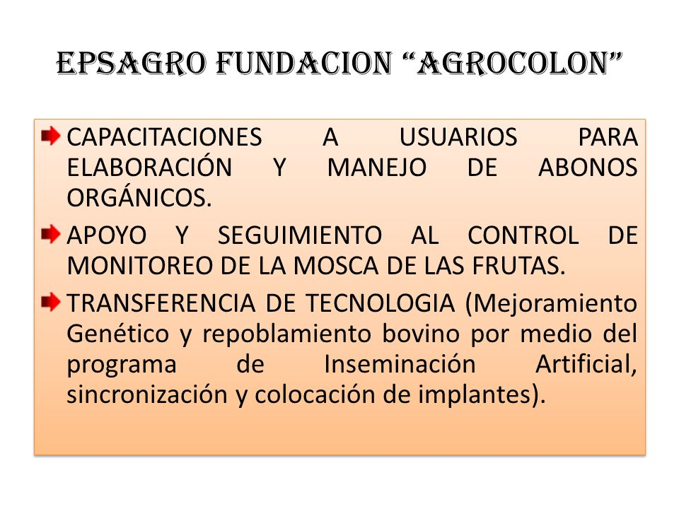EPSAGRO FUNDACION AGROCOLON