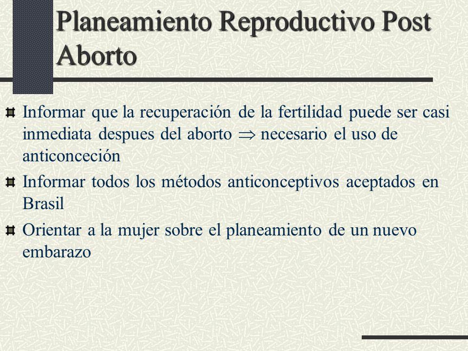 Planeamiento Reproductivo Post Aborto