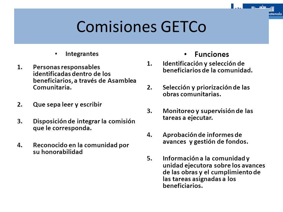 Comisiones GETCo Funciones Integrantes