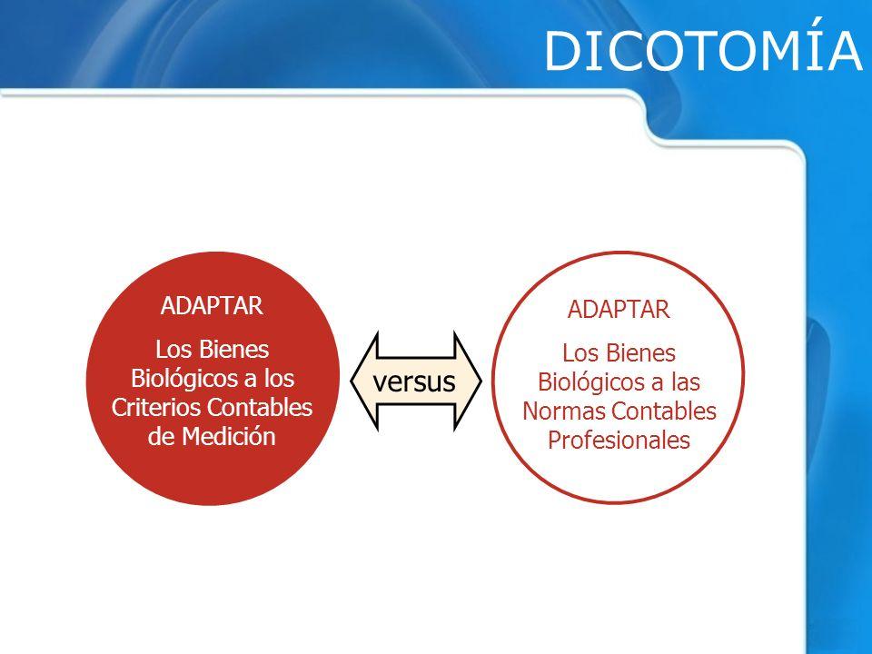 DICOTOMÍA versus ADAPTAR ADAPTAR