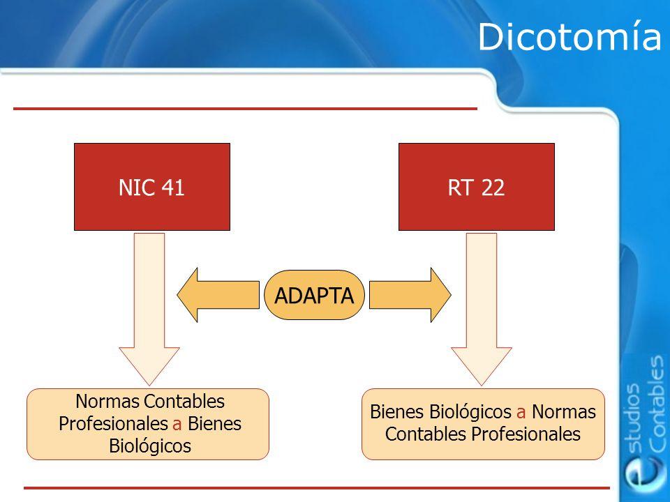 Dicotomía NIC 41 RT 22 ADAPTA