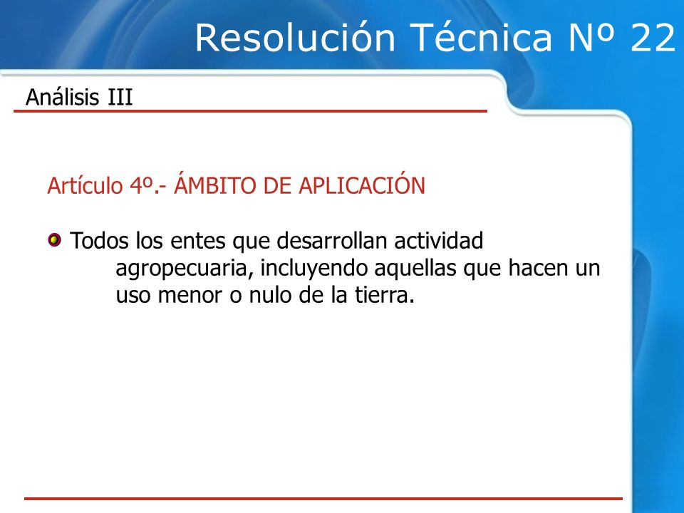 Resolución Técnica Nº 22 Análisis III