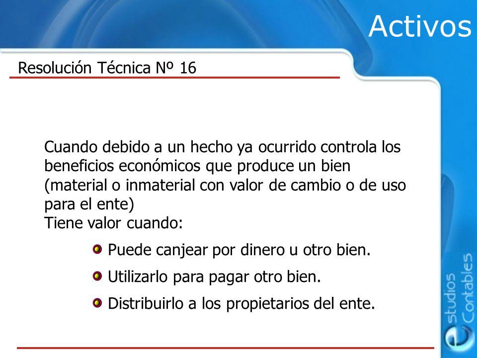 Activos Resolución Técnica Nº 16