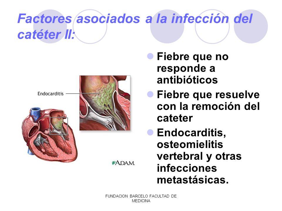 Factores asociados a la infección del catéter II: