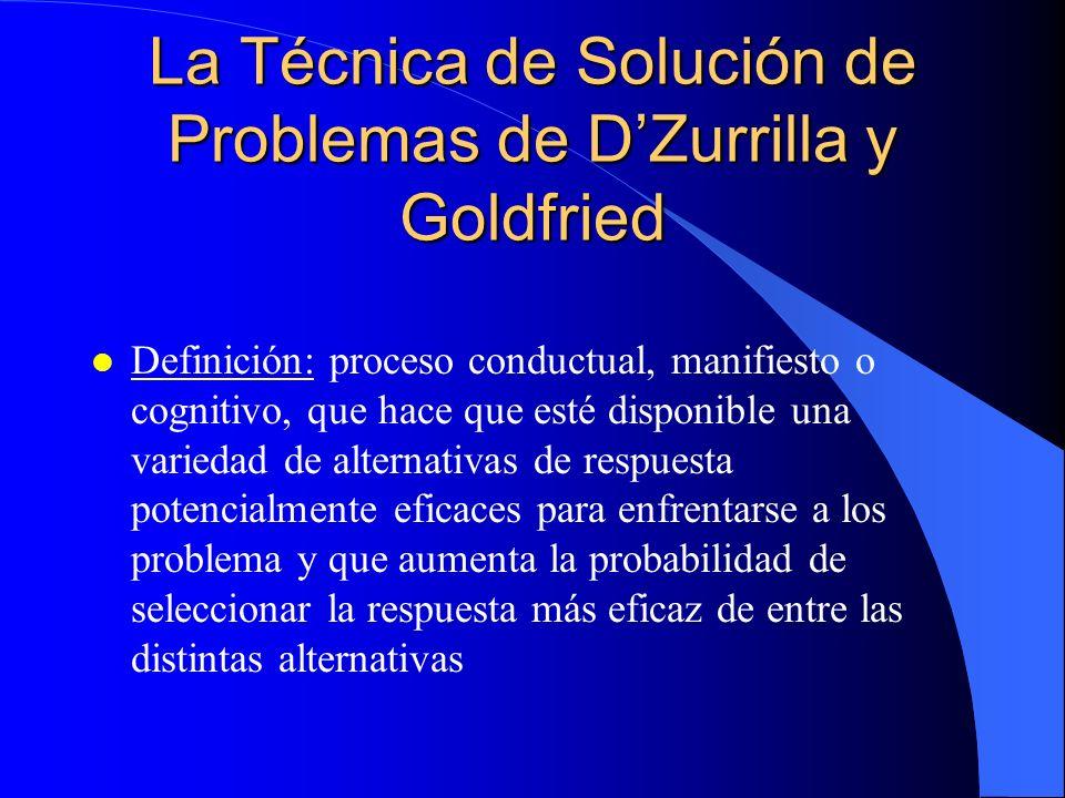 La Técnica de Solución de Problemas de D'Zurrilla y Goldfried