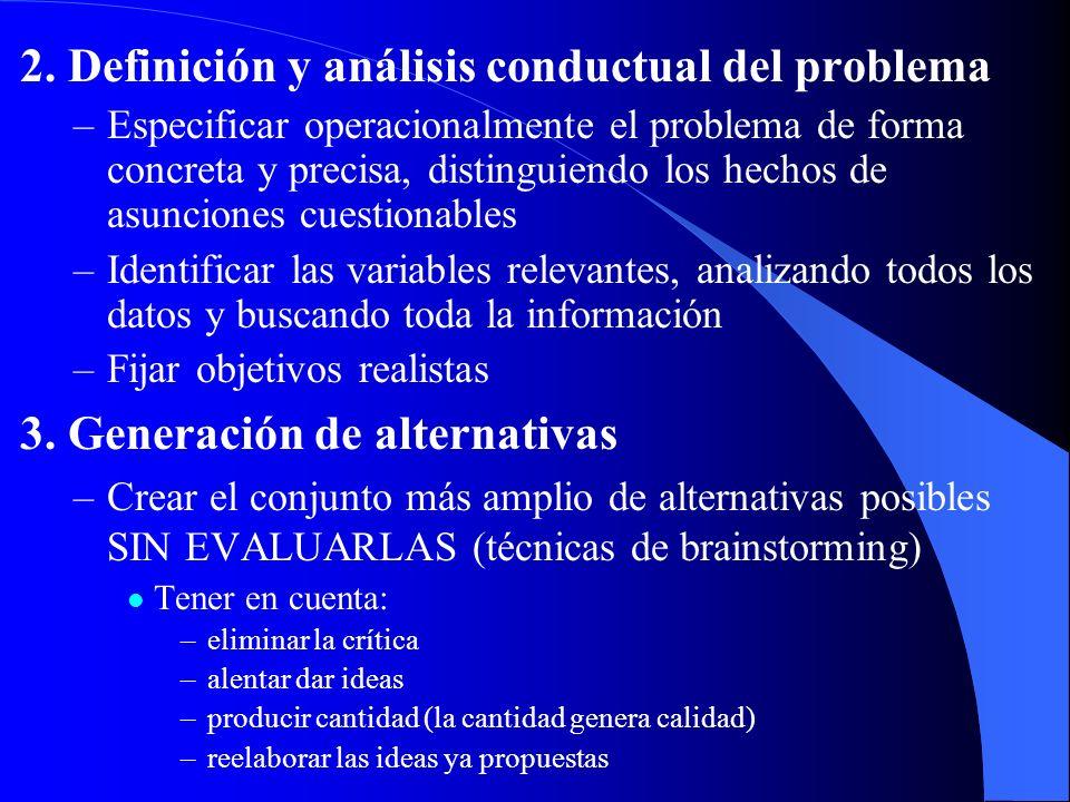 2. Definición y análisis conductual del problema