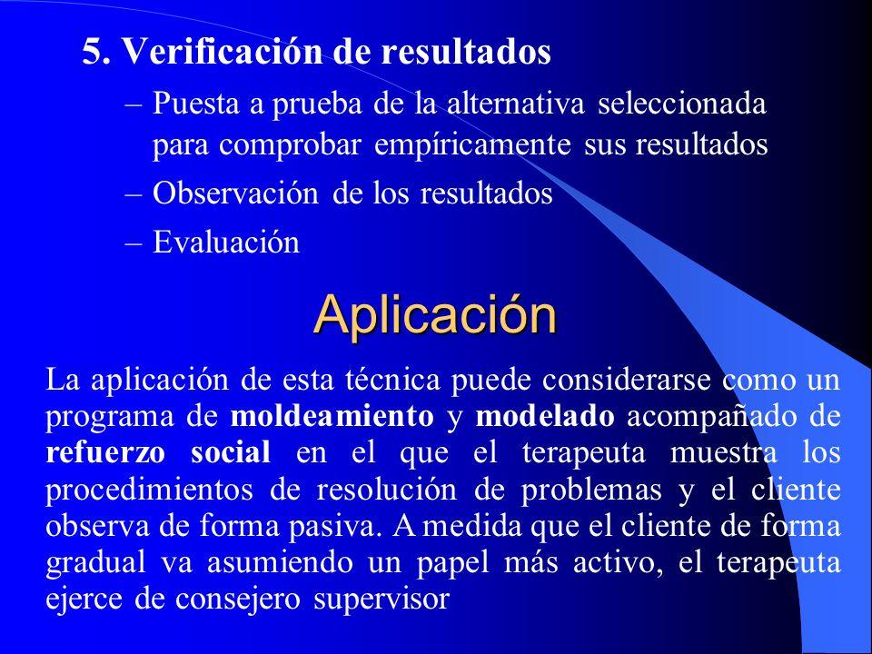 Aplicación 5. Verificación de resultados