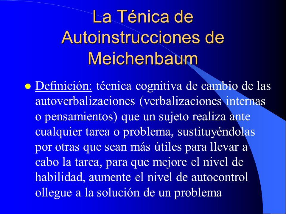 La Ténica de Autoinstrucciones de Meichenbaum