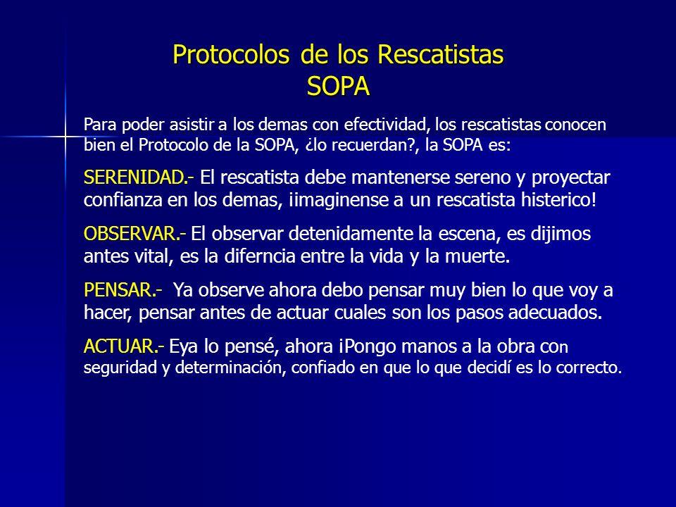 Protocolos de los Rescatistas SOPA