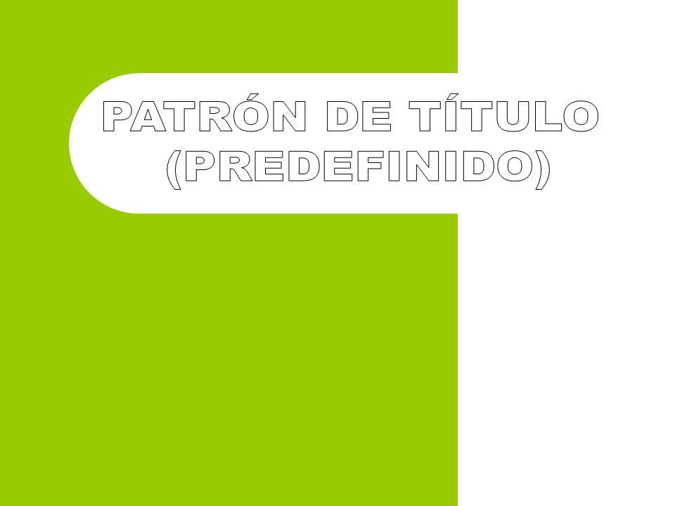 PATRÓN DE TÍTULO (PREDEFINIDO)