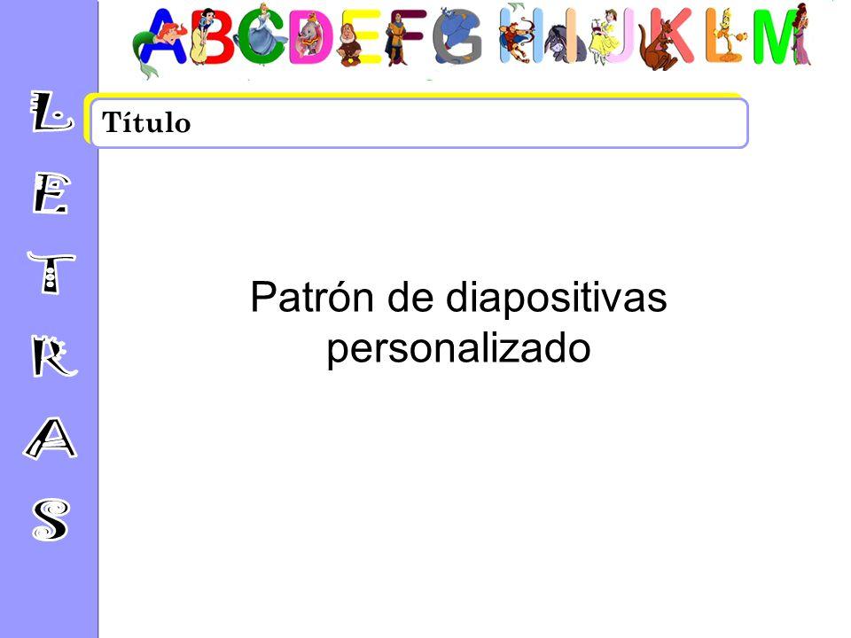 Patrón de diapositivas personalizado