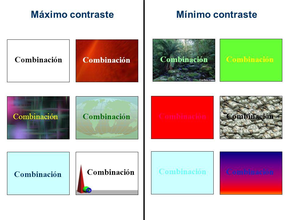Máximo contraste Mínimo contraste