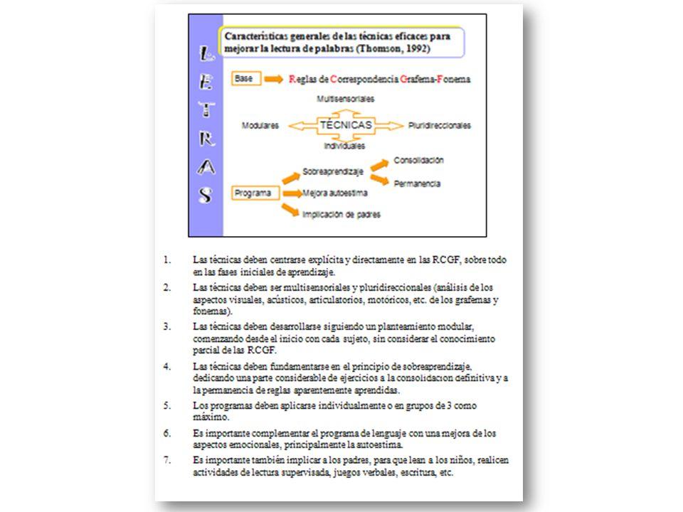Las técnicas deben centrarse explícita y directamente en las RCGF, sobre todo en las fases iniciales de aprendizaje.