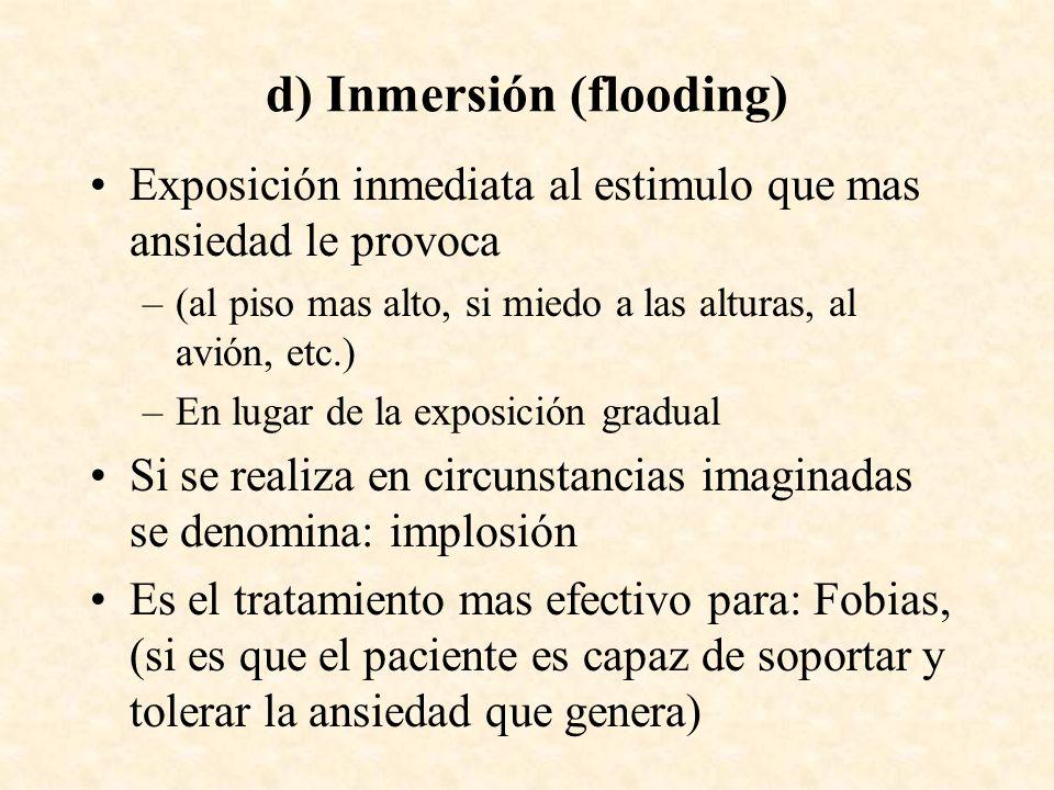 d) Inmersión (flooding)