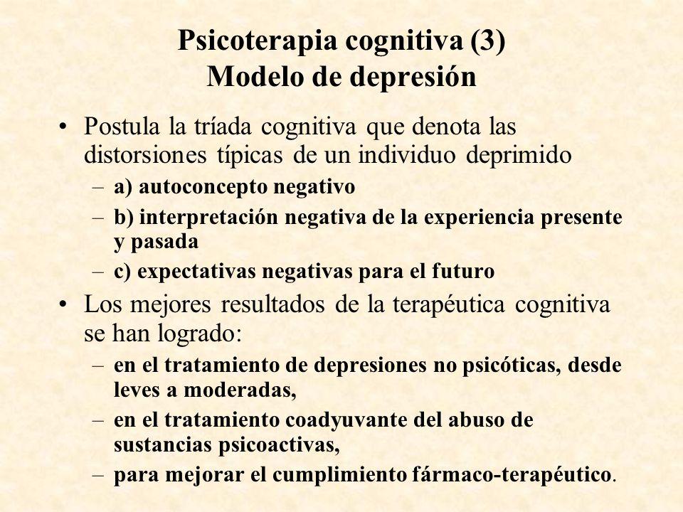 Psicoterapia cognitiva (3) Modelo de depresión