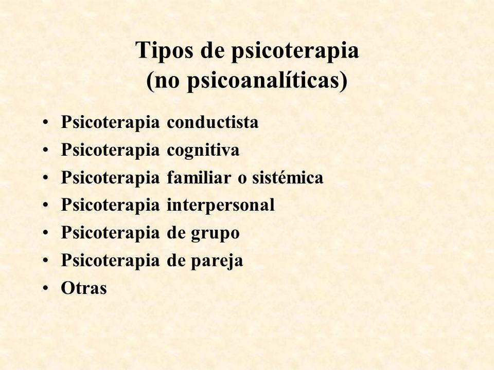 Tipos de psicoterapia (no psicoanalíticas)