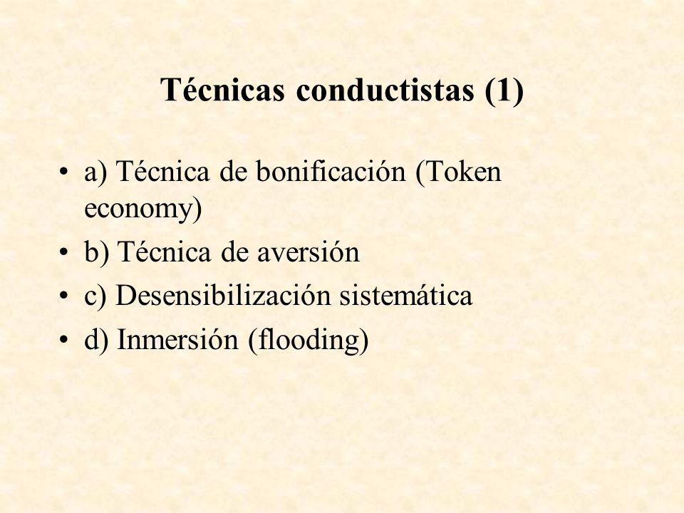 Técnicas conductistas (1)