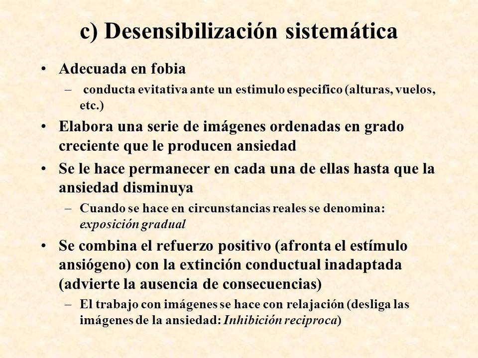 c) Desensibilización sistemática