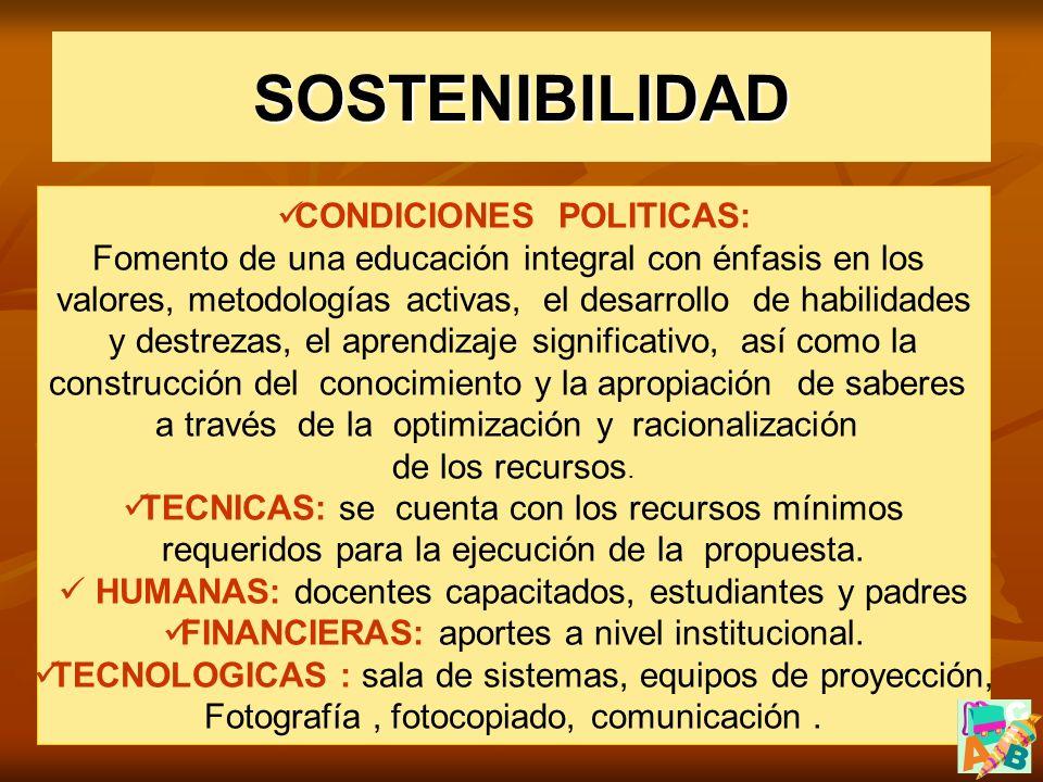 CONDICIONES POLITICAS: