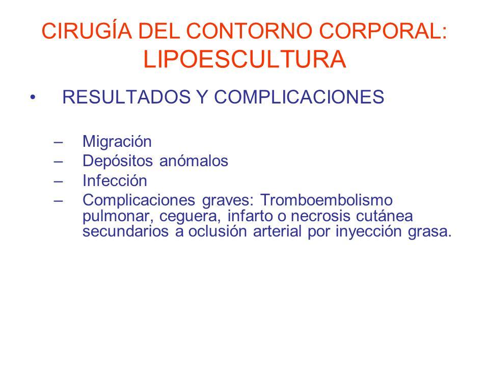 CIRUGÍA DEL CONTORNO CORPORAL: LIPOESCULTURA