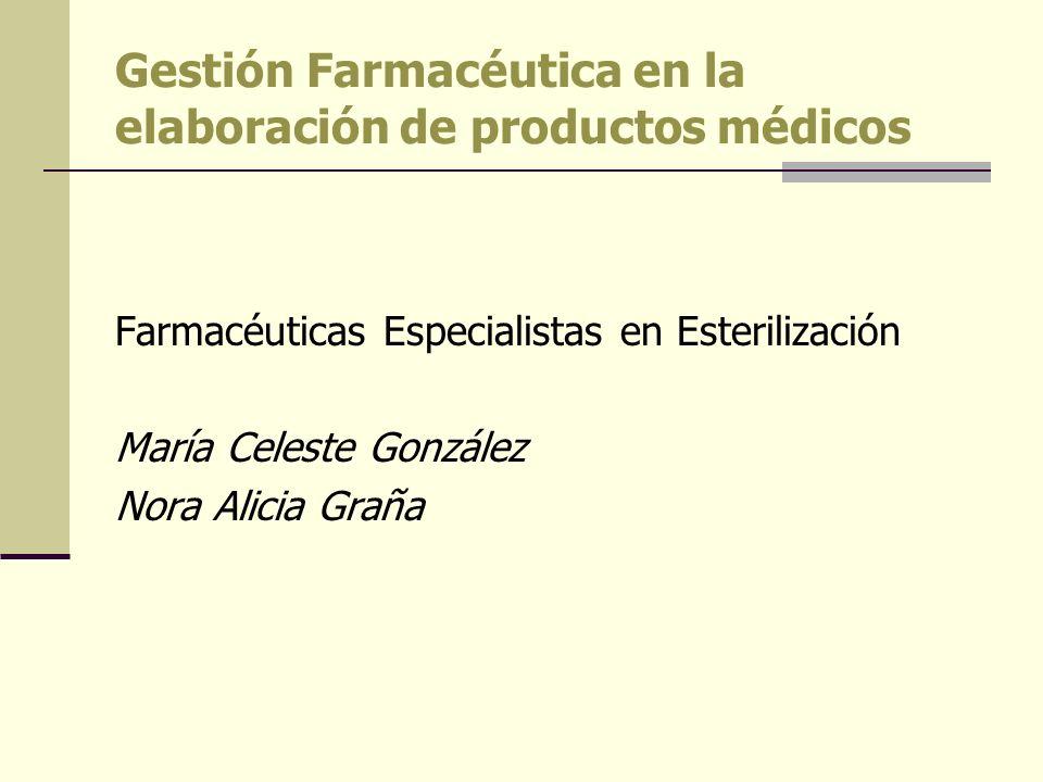 Gestión Farmacéutica en la elaboración de productos médicos