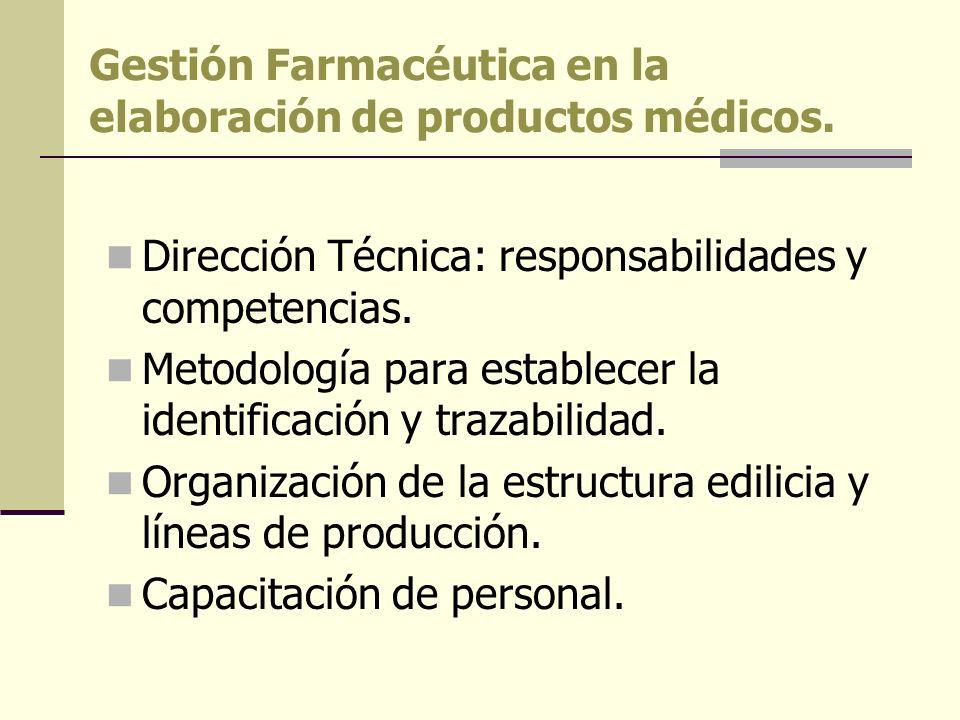 Gestión Farmacéutica en la elaboración de productos médicos.