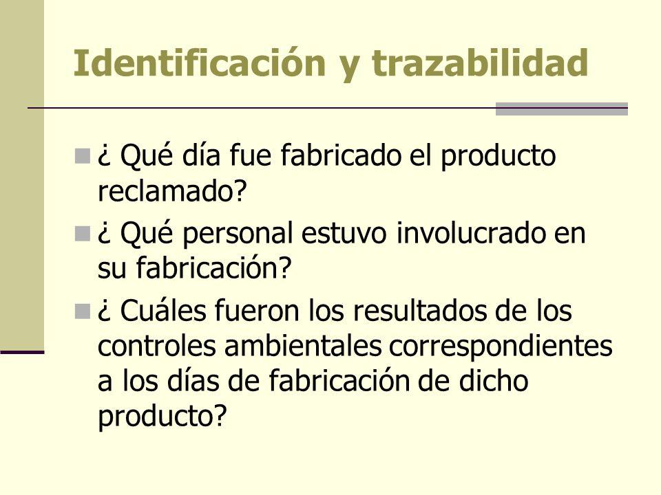 Identificación y trazabilidad