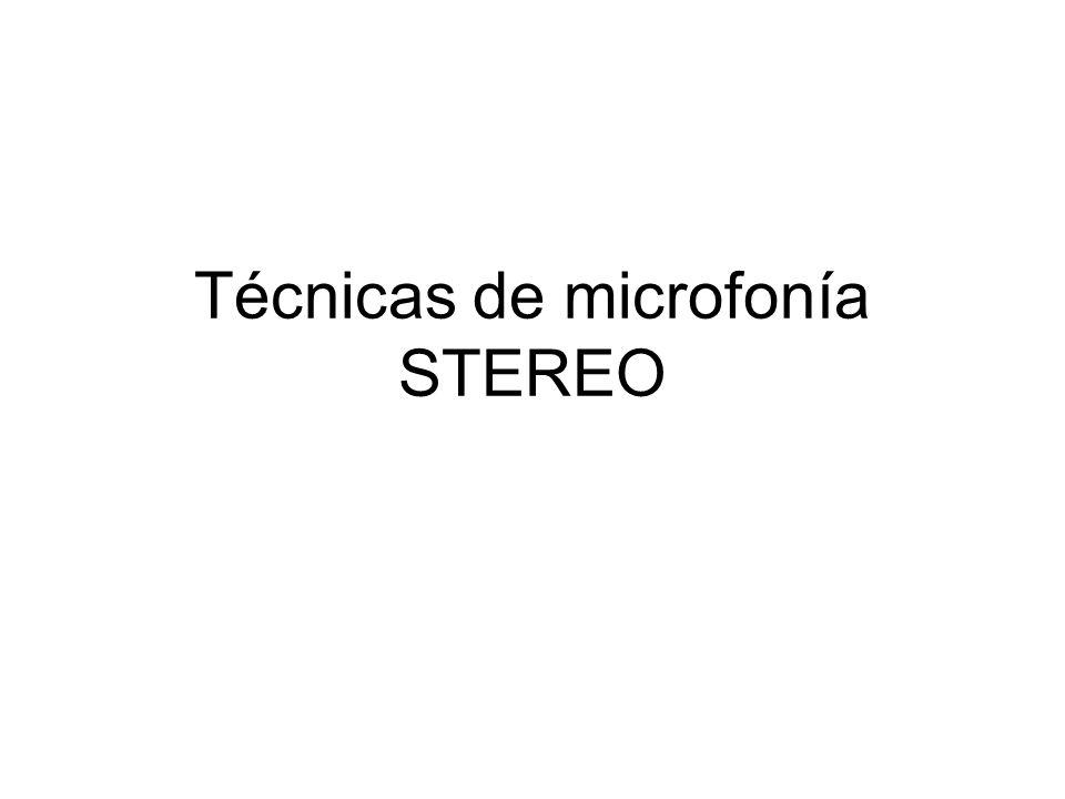 Técnicas de microfonía STEREO