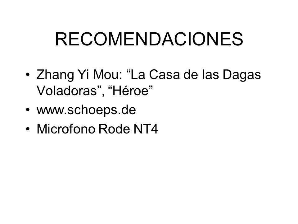 RECOMENDACIONES Zhang Yi Mou: La Casa de las Dagas Voladoras , Héroe www.schoeps.de.