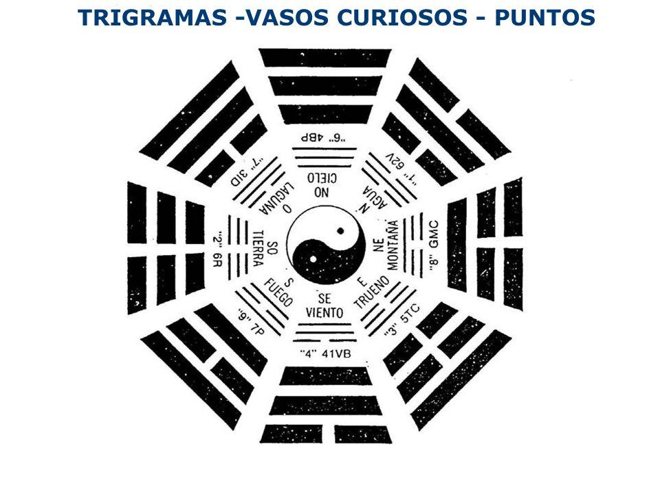 TRIGRAMAS -VASOS CURIOSOS - PUNTOS